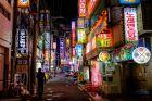 Ulice Busan nocą