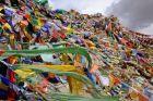 Indie, Ladakh, modlitewne chorągiewki