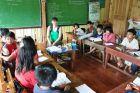 2012, Filipiny, Luzon, Ania w szkole.
