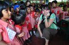 2011, Sri Lanka, Ania w szkole.